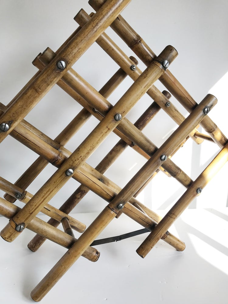 Image of Vintage Bamboo Wine Rack