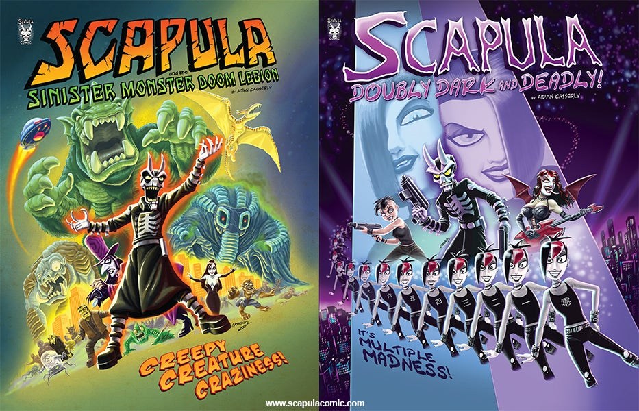 Image of Scapula Comic Pack- Scapula and the Sinister Monster Doom Legion and Scapula: Doubly Dark & Deadly!