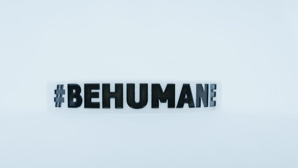 Image of #BEHUMANE Wristband - White & Black