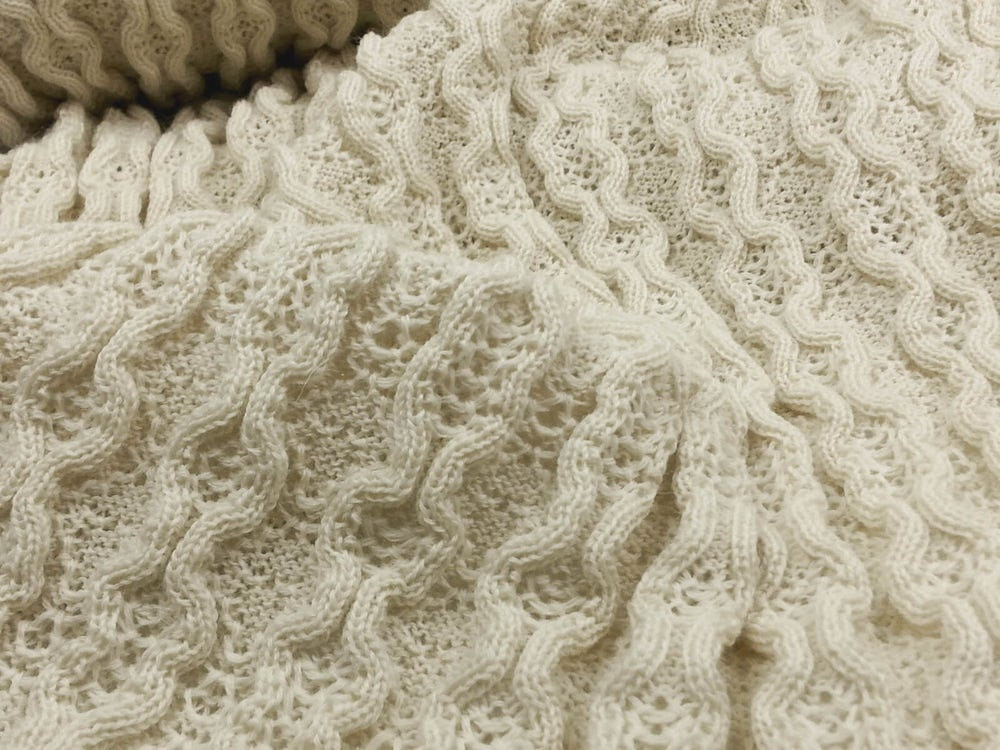 Image of Wool Rib and Diamond Tuck - Providence - Classic Cream (by the half yard)