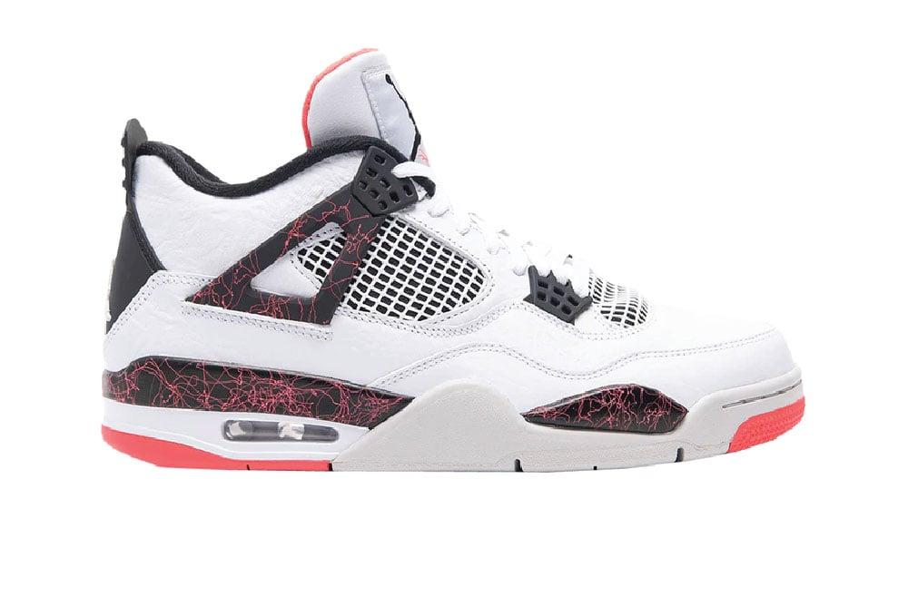 Image of Jordan 4 Retro White Black Bright Crimson 308497-116