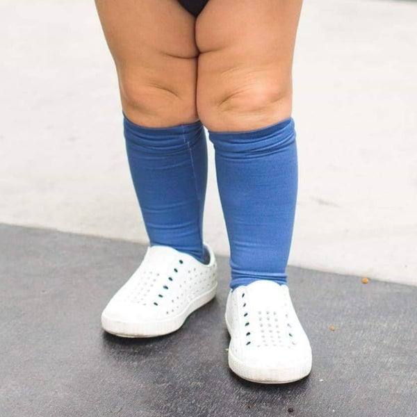 Image of Chambray Knee-Highs