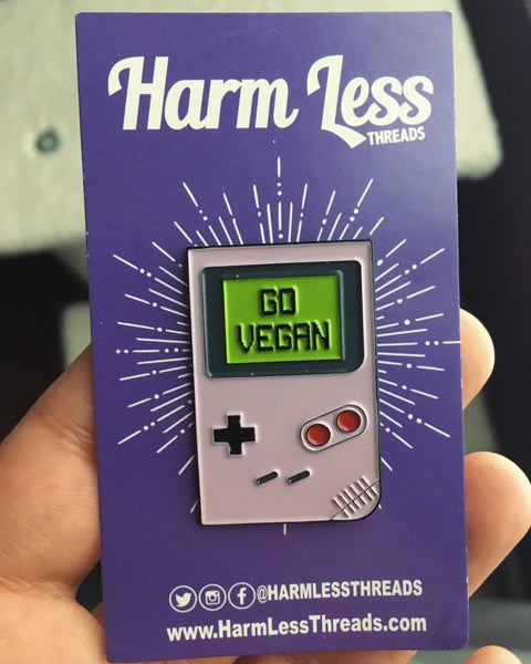 Image of GAMEBOY - GO VEGAN pin