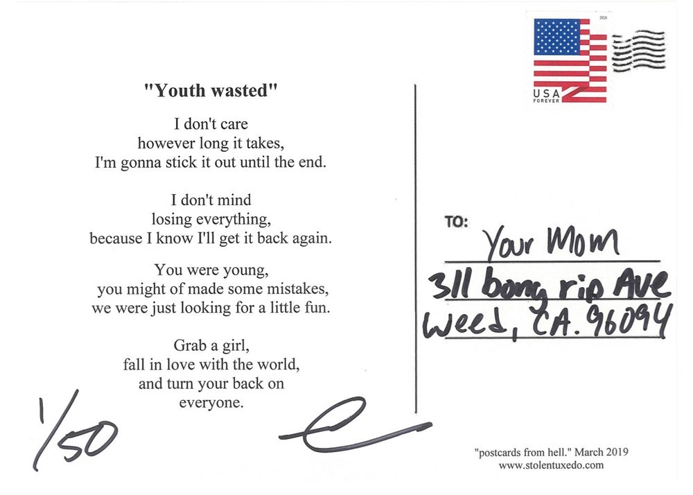 """Image of Postcards from hell - """"Youth wasted"""""""