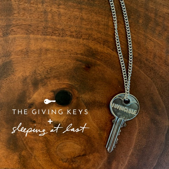 "Image of Enneagram 8 - ""INVINCIBLE"" Key Necklace"