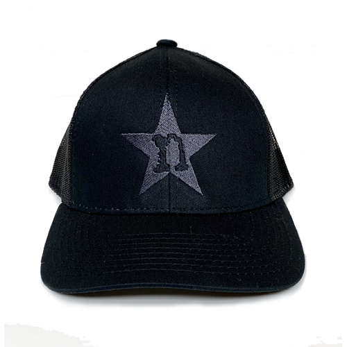 Image of Black Hat with Grey Star
