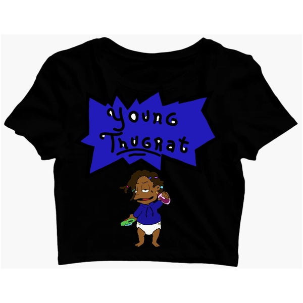 Image of Crop Thugrat Baby Tee