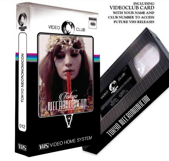 Image of LIMITED 20 TOKYO NECRONOMICON - VIDEO CLUB VHS IN CRYSTAL BOX + DVD + MEMBERCARD