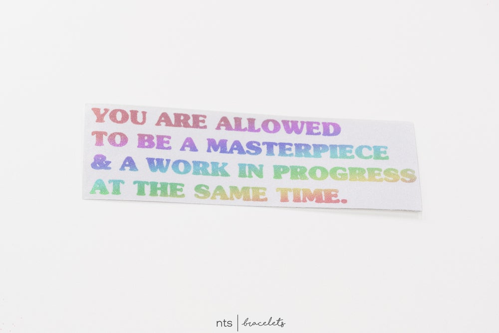 Image of YOU ARE ALLOWED TO BE VINYL STICKER (HOLO)