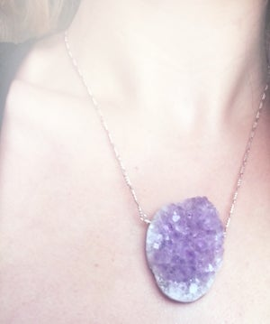 Image of Statement Amethyst Necklace - Sterling Silver, one of a kind - version 1