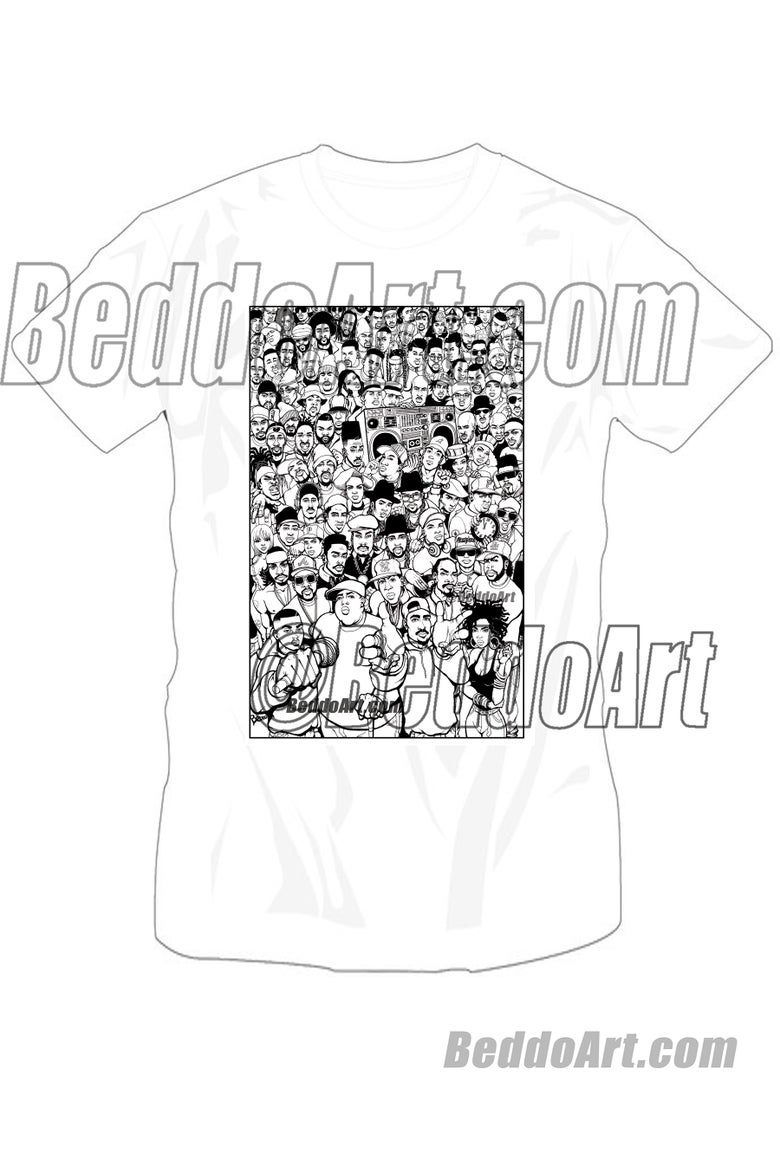 Image of Golden Age (black & white version) T-shirt by Beddo