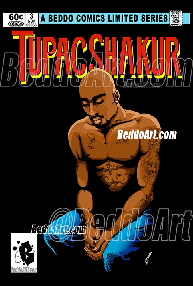 Image of Tupac Shakur Limited Series #3 print / poster by Beddo