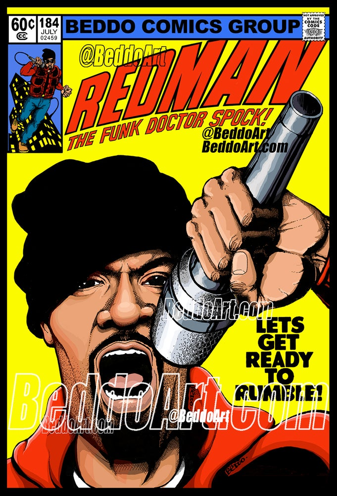 Image of Let's Get Ready To Rumble #184 (11 x 16.5 inch print)