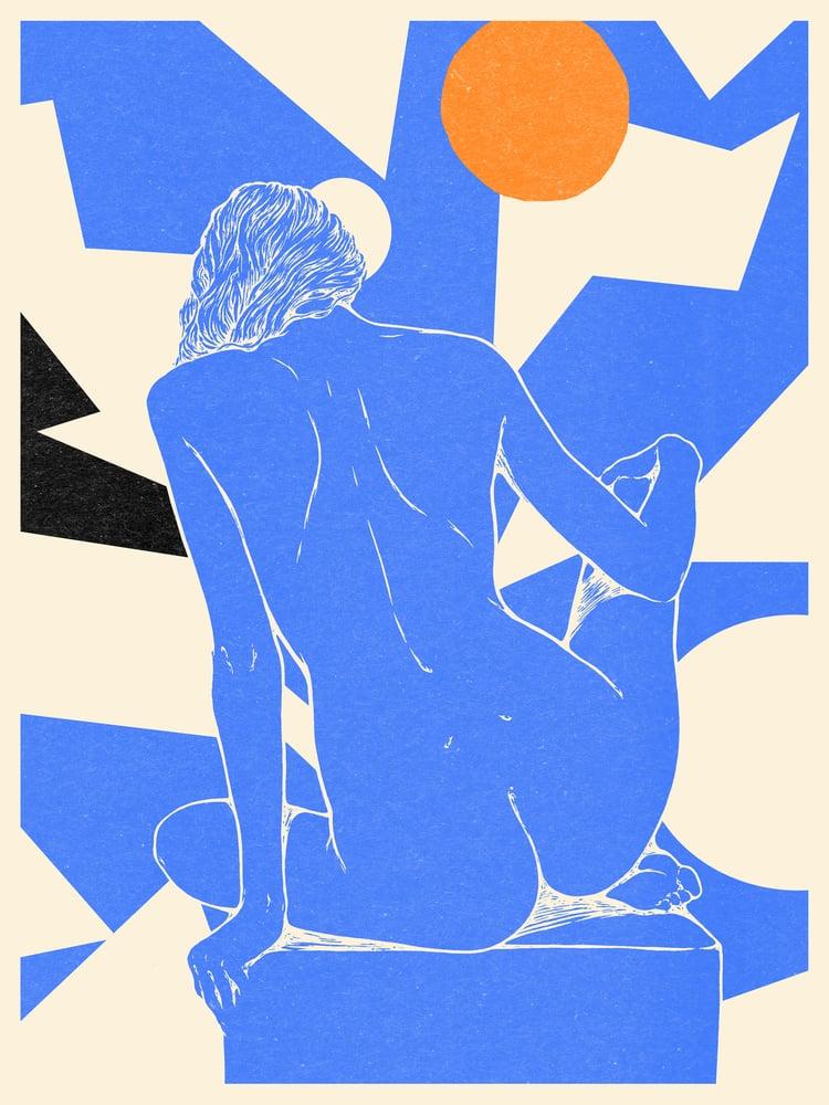 "Image of "" Grand nu bleu "" / 60x80 cm"
