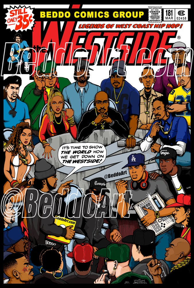 Image of The Westside #181 (11 x 16.5 inch) print by Beddo