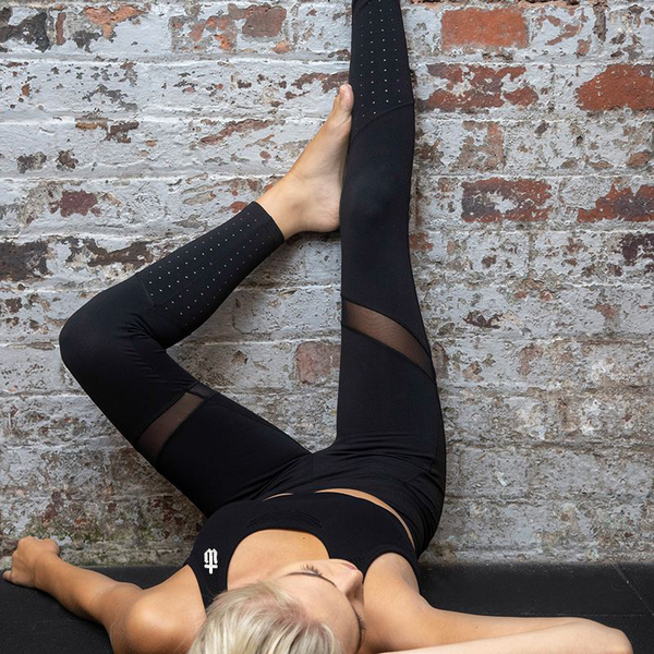 Image of PANELLED MESH LEGGINGS