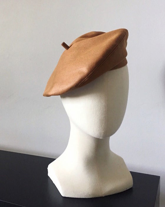 Image of FAUX SUEDE BERET