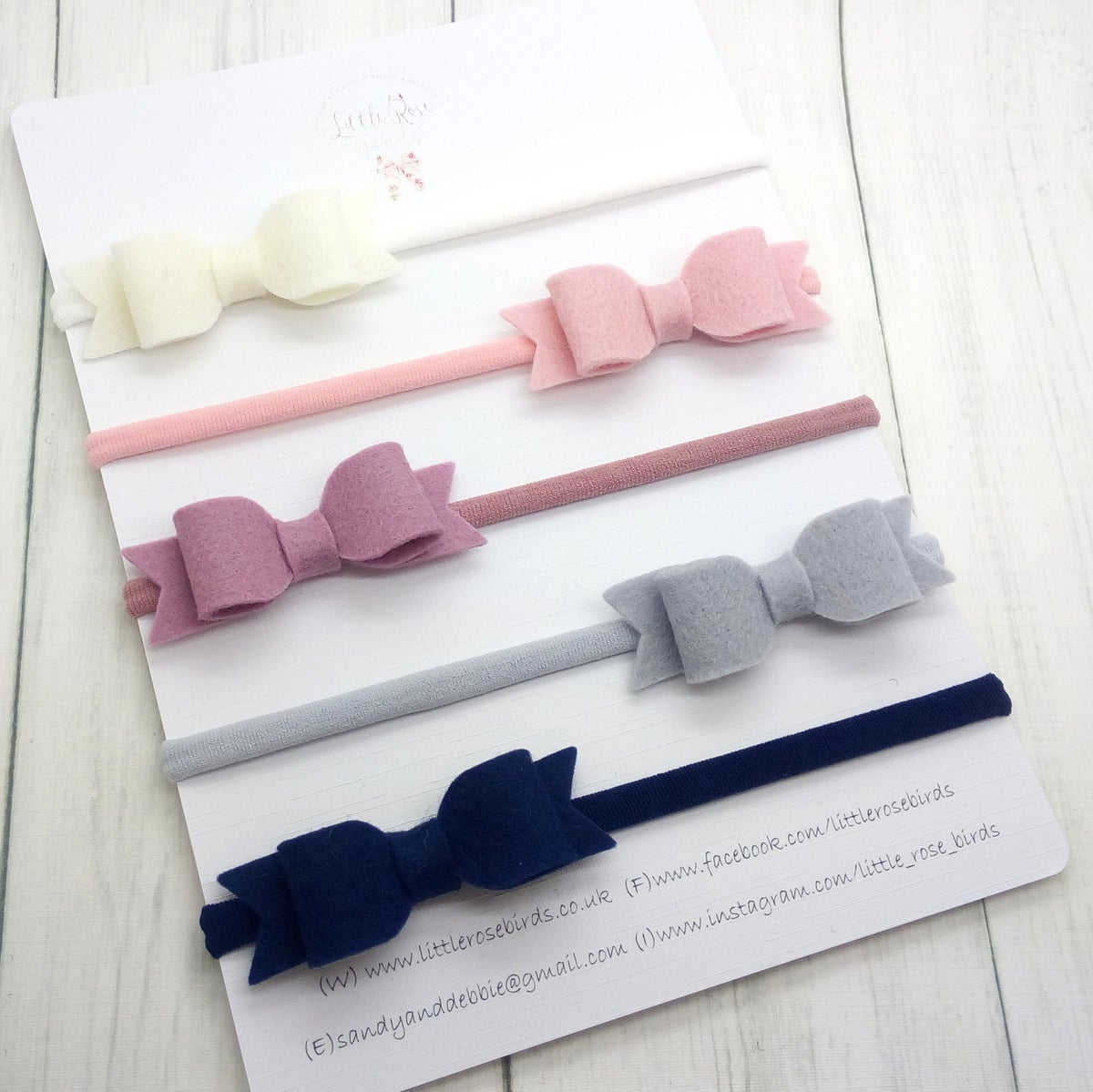 Image of SET OF 5 BOWS - Classic Colours