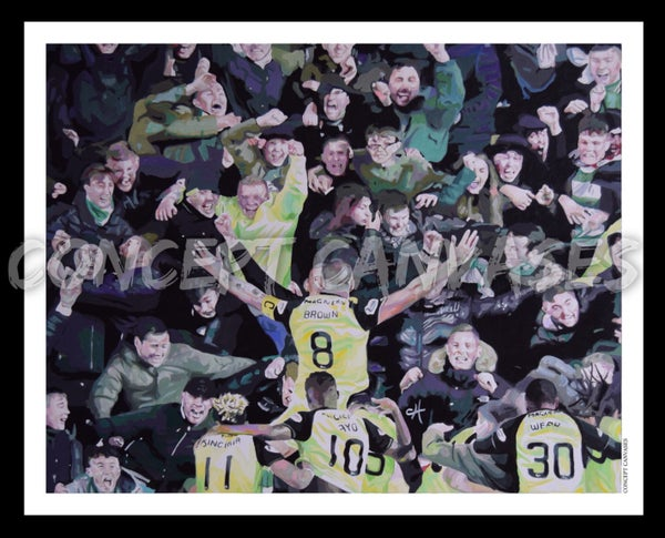 Image of (horizontal) 'Football Without Fans Is Nothing' A3 Print