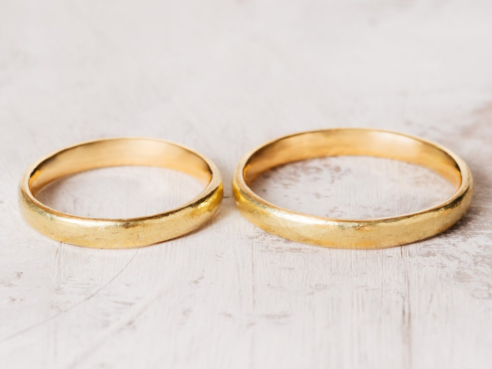 Image of eternal rings, hammered