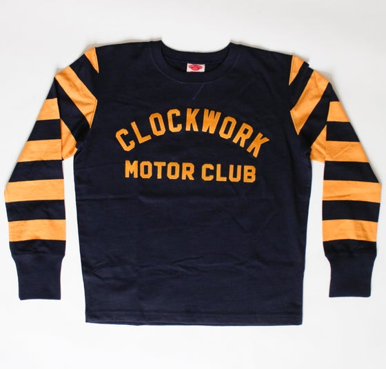 Image of Navy/yellow CWMC vintage racing jersey