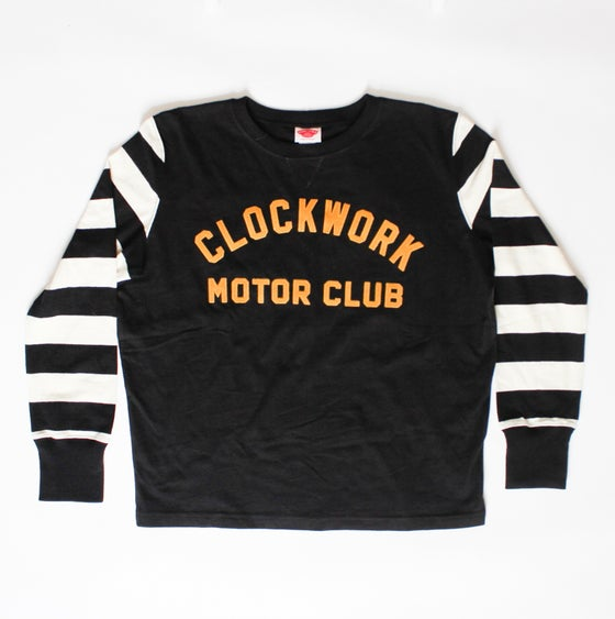 Image of Black & White CWMC vintage racing jersey