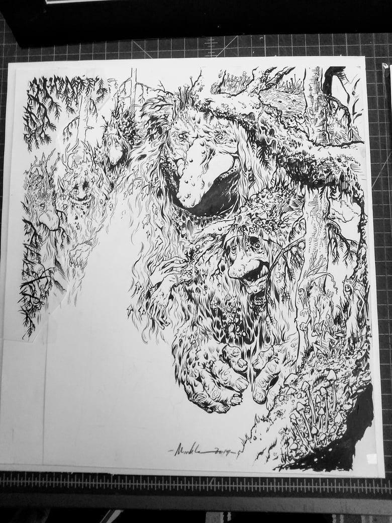 Image of Trolls inked art