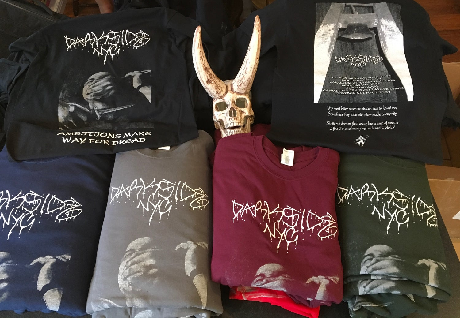Image of Darkside NYC T-shirt — Ambitions Make Way For Dread