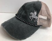Image of Acid Washed Brushed Cotton Trucker Crystal Pegasus
