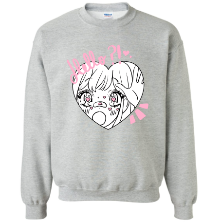 Image of HELLO?! sweater - grey