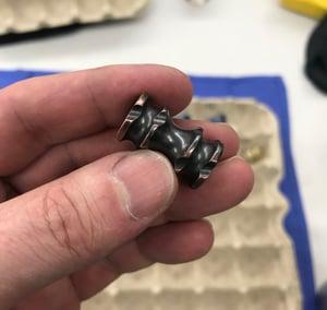 Image of Copper/Brass/Titanium Jumbo Bead Design 2