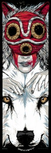Image of MORO - Princess Mononoke - art print