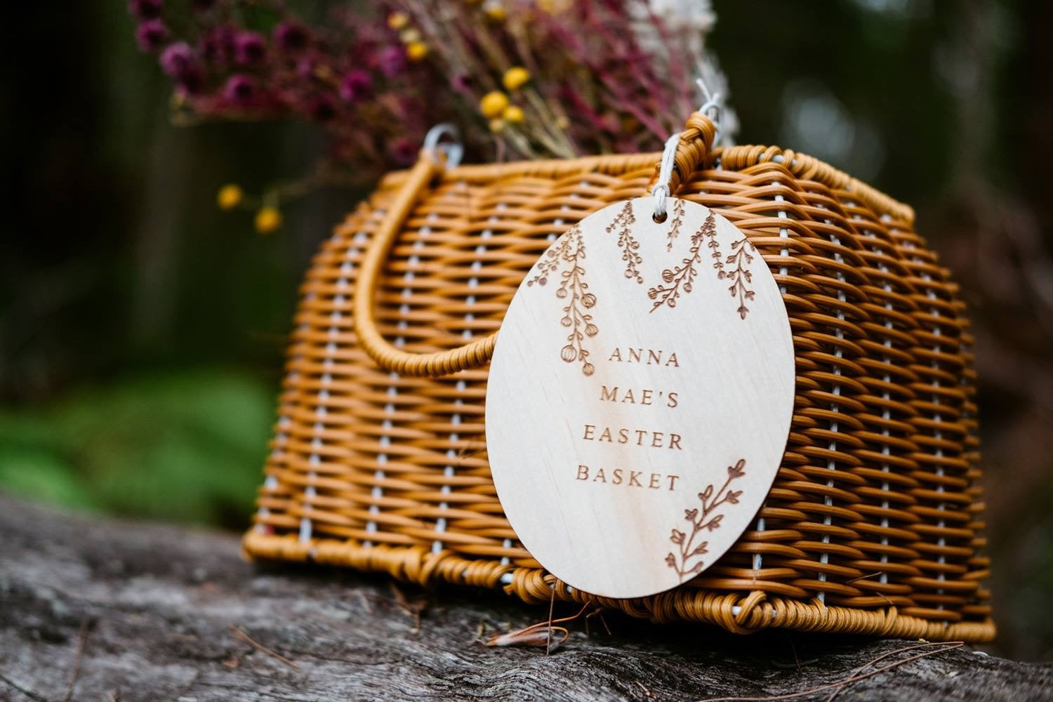 Image of PERSONALISED EASTER WILDFLOWER TAG or SPIKE
