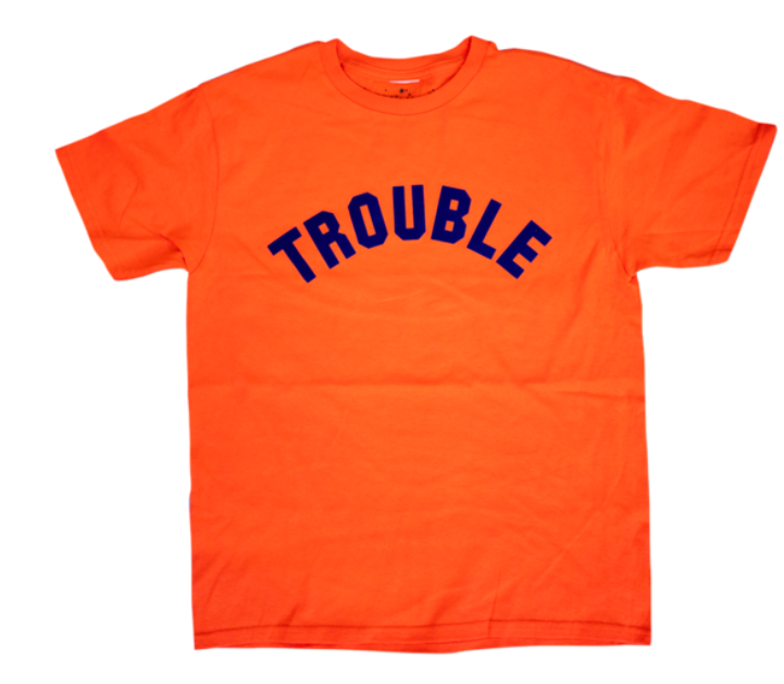 Image of TROUBLE TEE - ORANGE