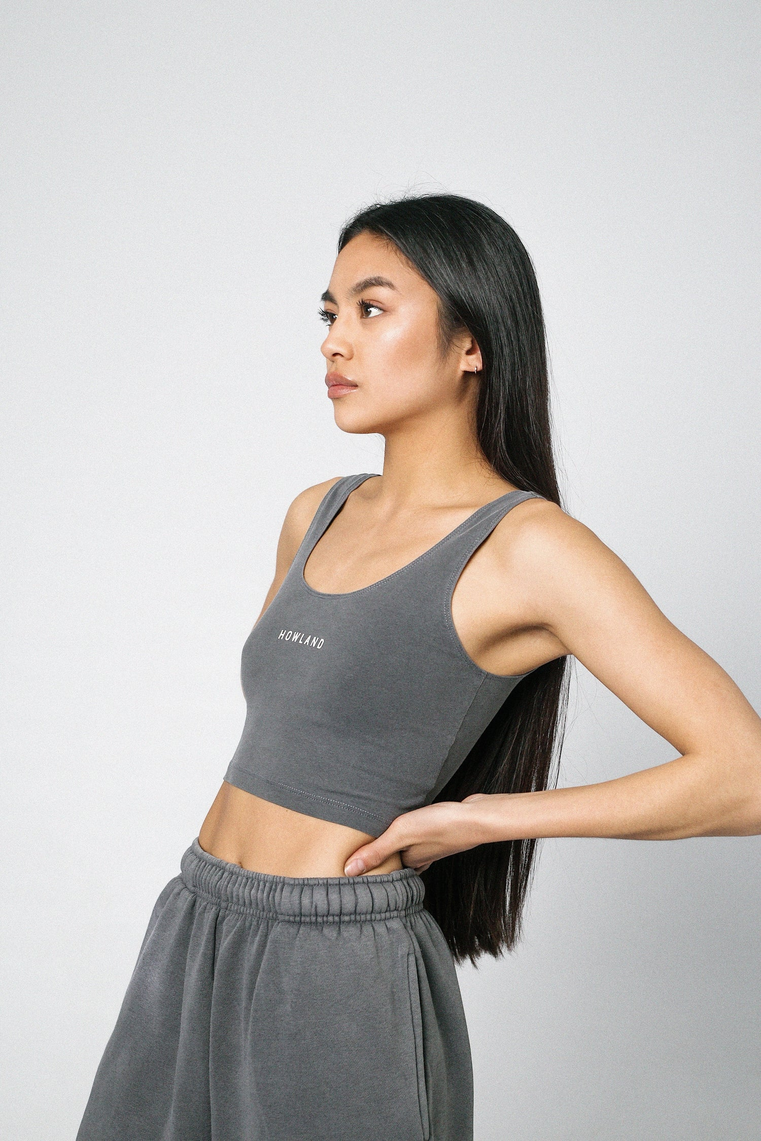Image of WASHED GREY  TOP