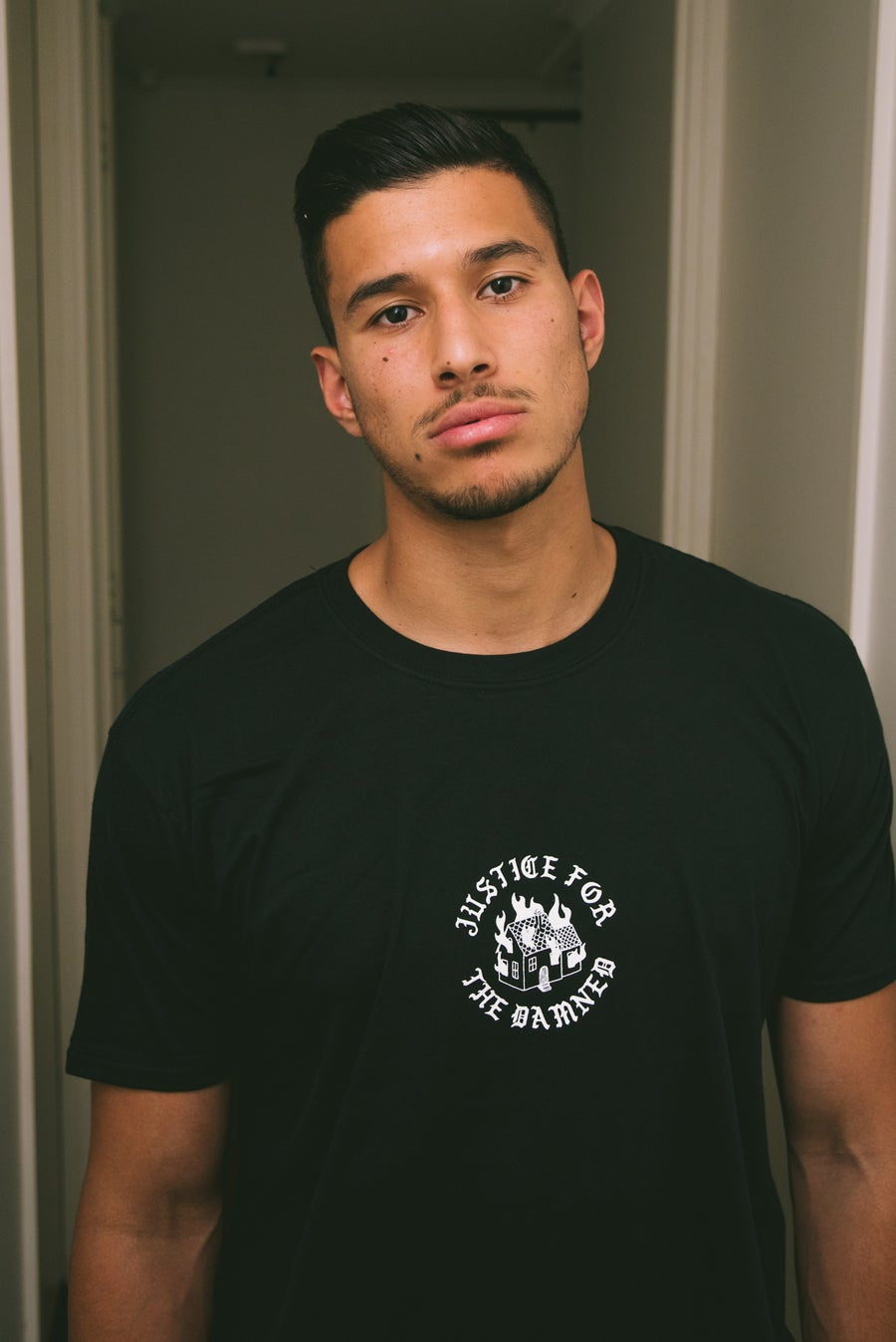 Image of Black Burning House Tee