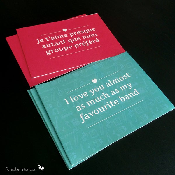 Image of Bundle of 2 music lover cards - (English or French)