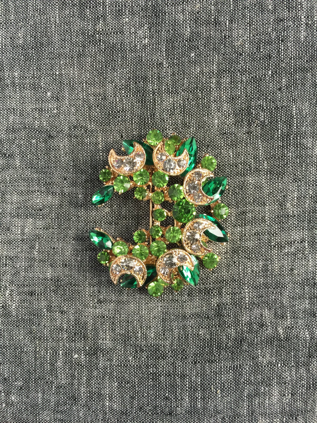 Image of The Omari Brooch (Green)