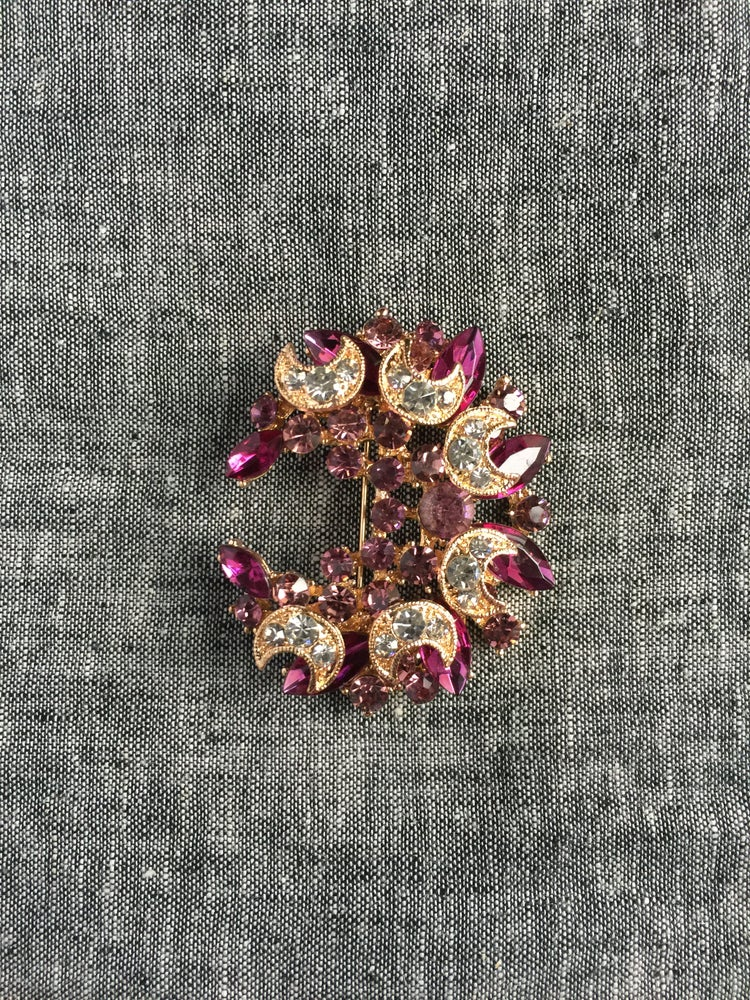 Image of The Omari Brooch (Plum)