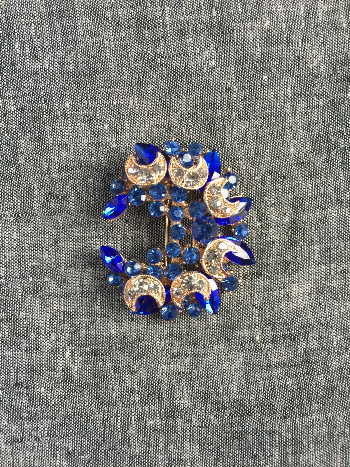 Image of The Omori Brooch (Blue)