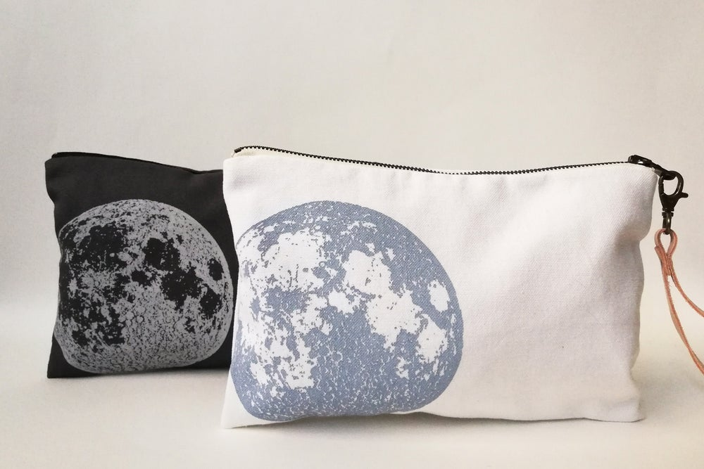Image of FULL MOON - BLUE -BOLSO MANO ALGODON - CLUTCH