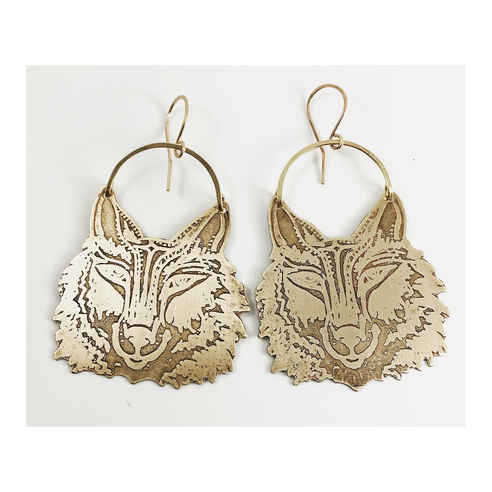 Image of Wolf Mama Earrings-Reserved