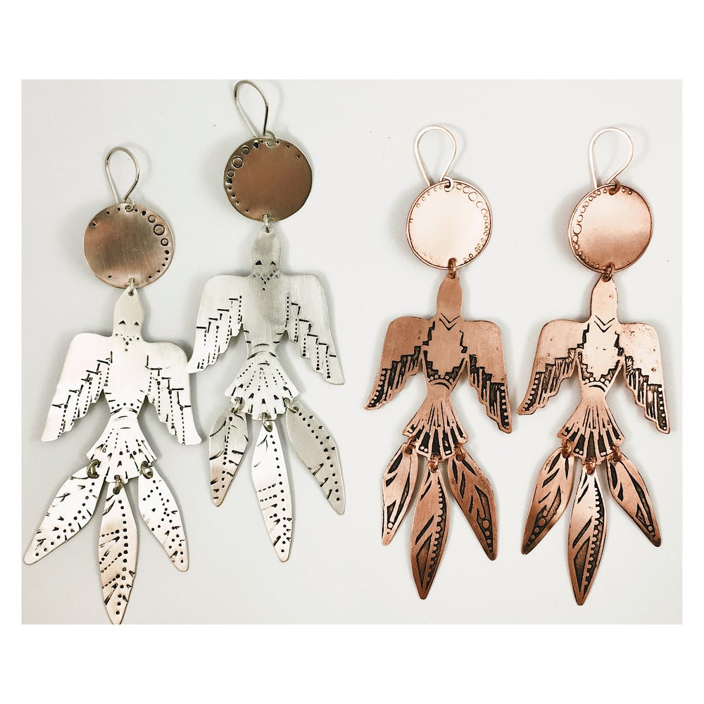 Image of *Limited -Rise Earrings in Sterling and Copper