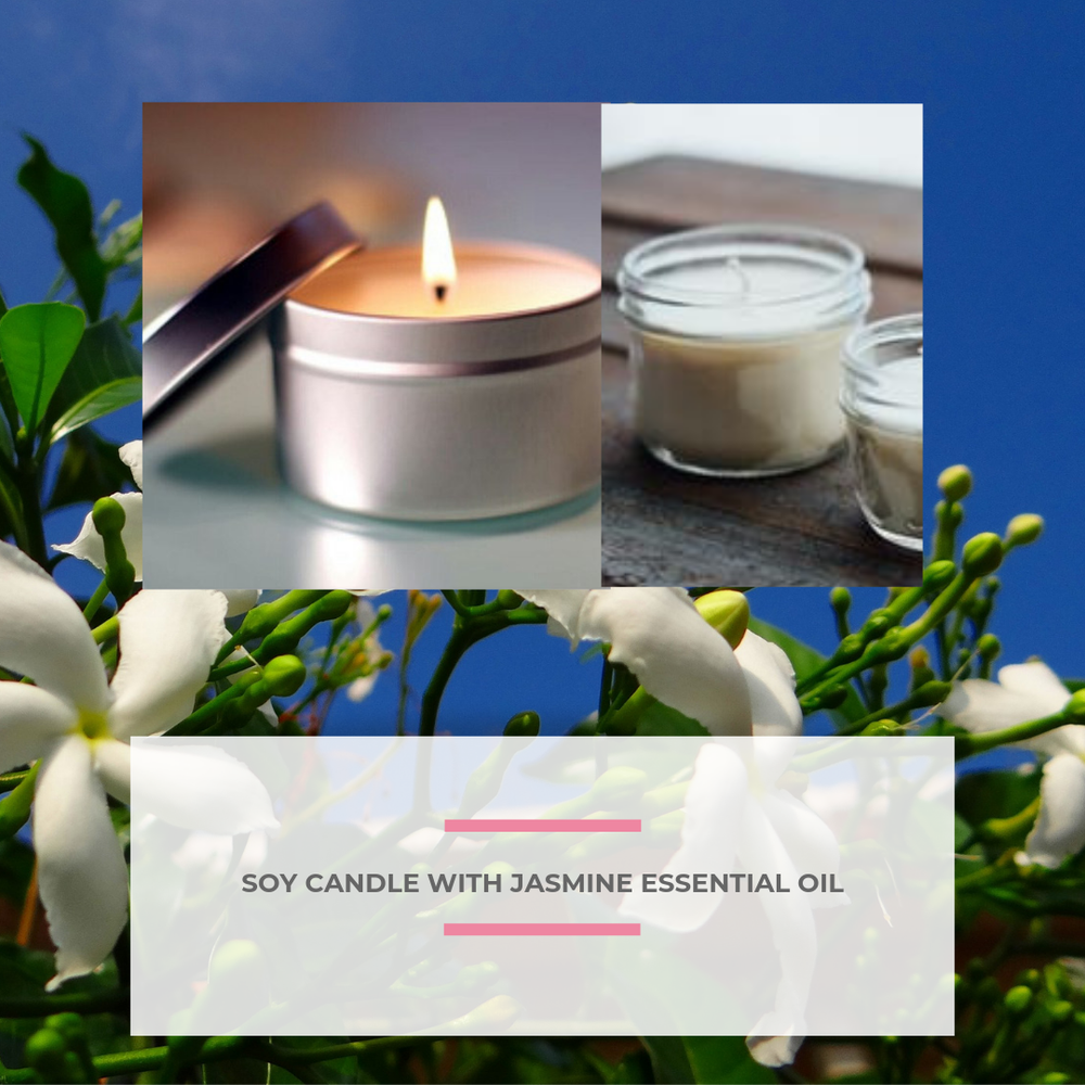 Image of Soy Candle with Jasmine Essential Oil