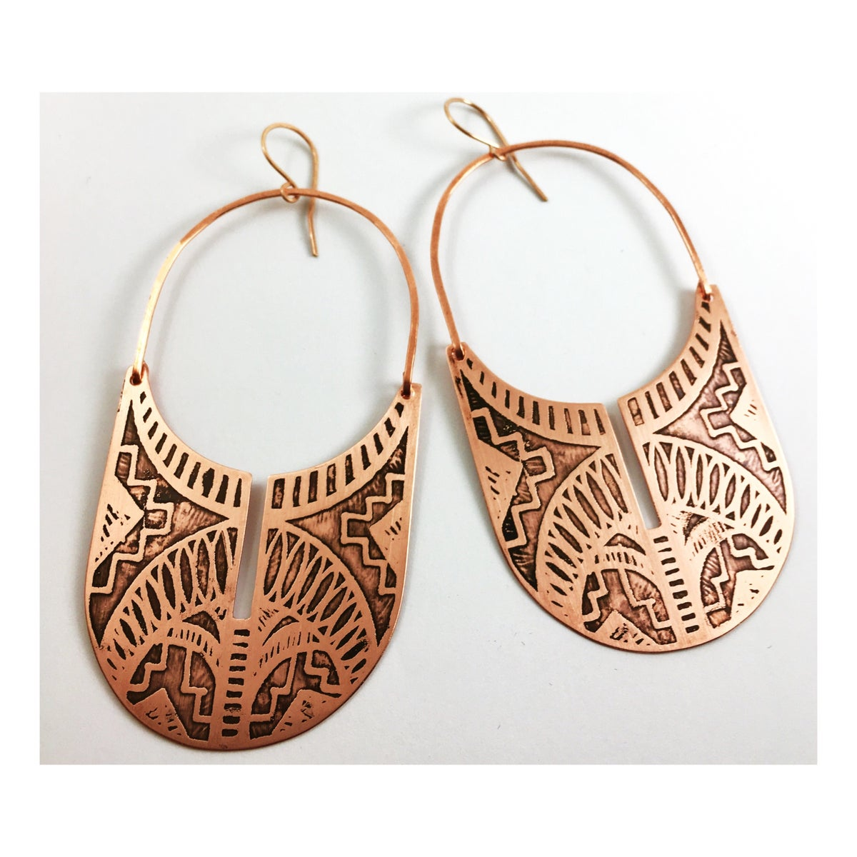 Image of Sherah Hoops (Brass and Copper)