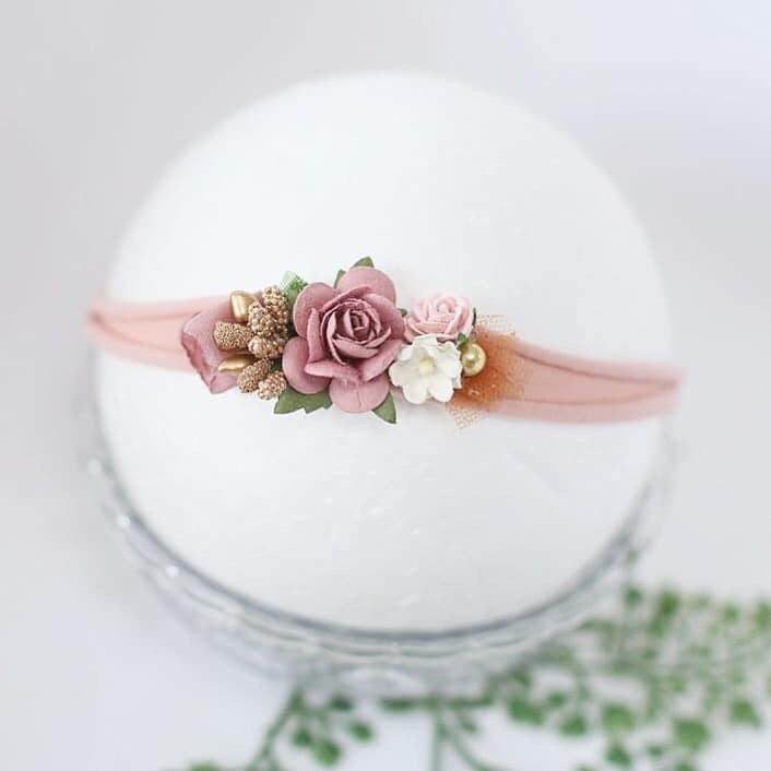 Image of Headband vieu rose et doré