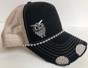 Image of Triple Crystal Trucker Hat Crystal Owl