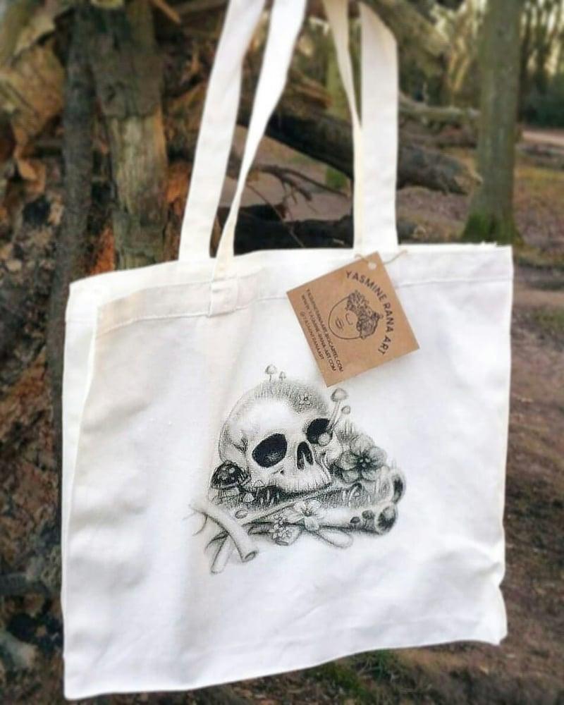 Image of Skeleton Flat Bottom Tote Bag