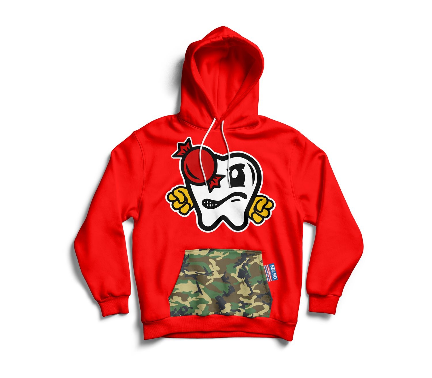Image of OG VITAS HOODY RED W/ CAMO