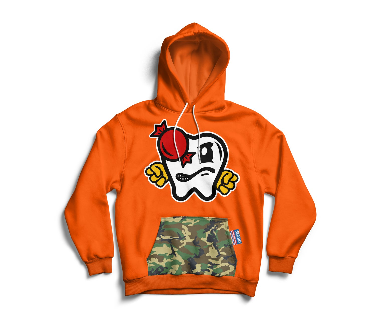 Image of OG VITAS HOODY ORANGE W/ CAMO